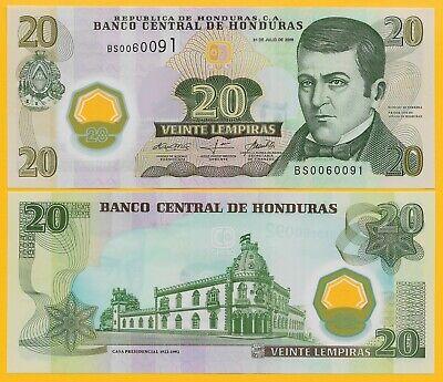 20 Lempira José  Diaz del Valle // Old palace Honduras P95 UNC  2008 POLYMER!
