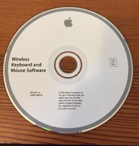 2004-Macintosh-Mac-Wireless-Keyboard-Mouse-v1-2-Software-Install-CD-Disc