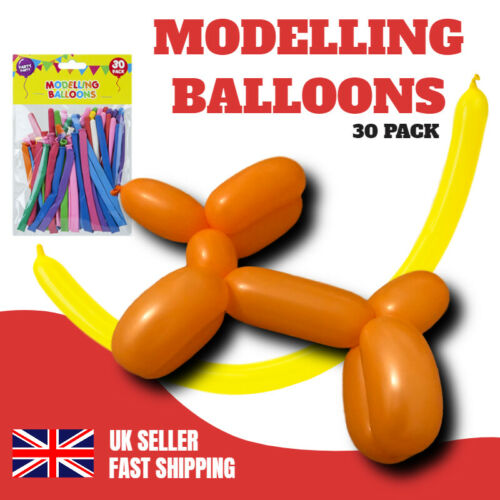 PARTY MODELLING BALLOONS 30 MIXED COLOURS LATEX HIGH QUALITY KIDS BIRTHDAY