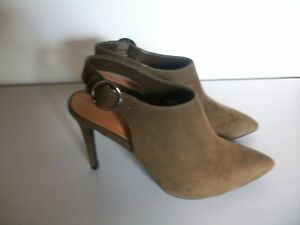 AUTOGRAPH M&S Size 6.5 (39.5) Wider Fit Brown Leather Cut out Detail Shoes