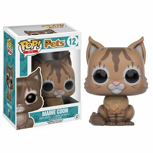 Funko Pop! Vinyl * Maine Coon Cat * #12 Pets Kitty Kitten Figure New in Box POP