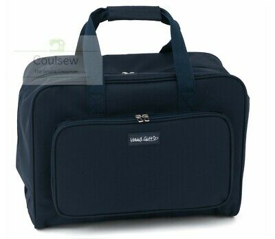 SEWING MACHINE CARRY CASE HOLD ALL STRONG STORAGE CRAFT BAG Navy *** NEW ***