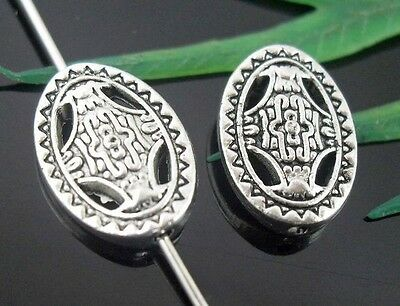 14//42pcs Tibetan silver hole 5.5mm Small flower ring loose Spacers Beads Crafts