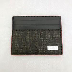 1e05d6a4ad6d NWT Michael Kors Mens Jet Set PVC Leather Tall Card Case Wallet ...