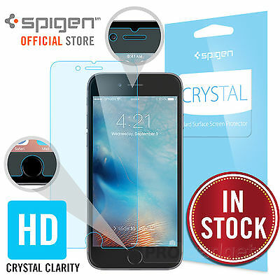 iPhone 6S / 6 Screen Protector, Genuine Spigen Full HD 3 PK Crystal CR for Apple