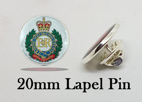 Royal ingeniero Regimiento Pin de Solapa Mod con licencia