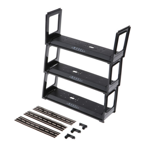 Black Plastic Display Shelf Toy Model Car Protection Show Storage Case Kits