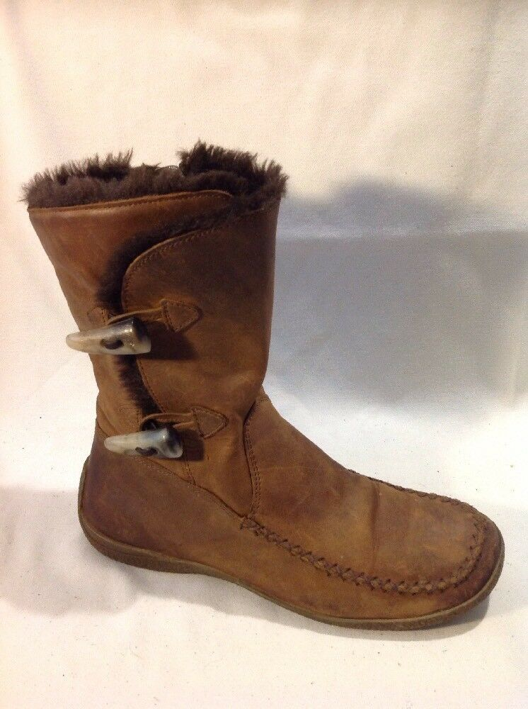 Clarks Brown Ankle Leather Boots Size 4