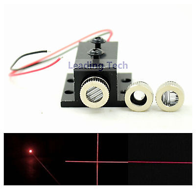 650nm Red Diode Lasers Module Dot Line Cross LED 5mw Focusable with Heatsink