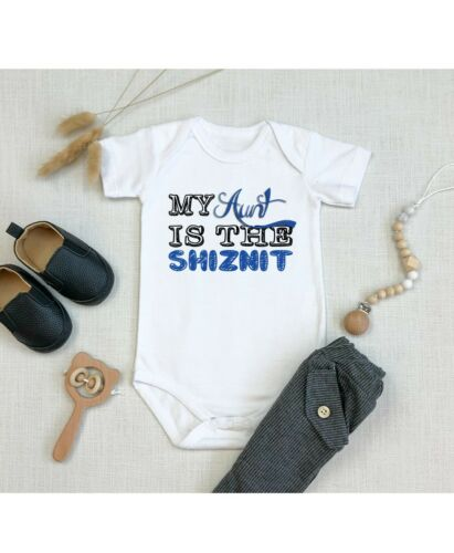 My Aunt is the Shiznit Best Shower Gift Cute Funny Infant Message Baby Bodysuit