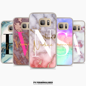 Personalised Big Initials Phone Case Cover Marble Samsung Galaxy S7 S8 S9 S10 Ebay
