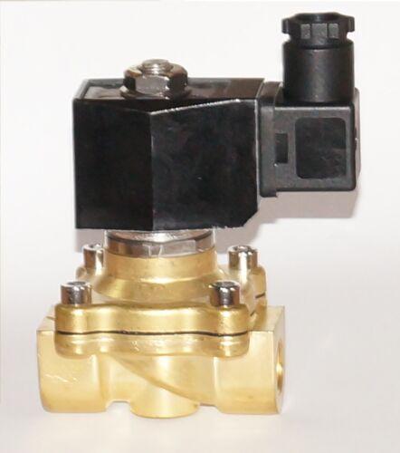 "Magnetventil Messing 2//2 Wege 230V 3//8/"" stromlos geschlossen zwangsgesteuert"