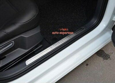 Stainless Steel Door Sill Scuff Plate Insert For Audi Q7 Quattro 2006-2015