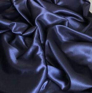 "5 X Mtr Shiny Grey Crepe Back Satin Fabric Bridal Prom Dress Fabric 58"""