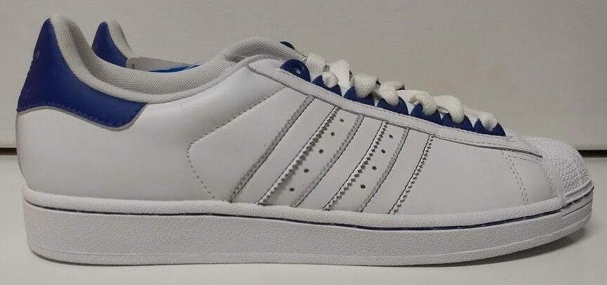 a7365ef66a7d adidas Superstar II Size 10 RARE Color White Royal Blue Mens Shoe ...