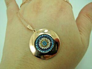 Turkish-Handmade-Jewelry-925-Sterling-Silver-Multi-Stone-Women-Necklace