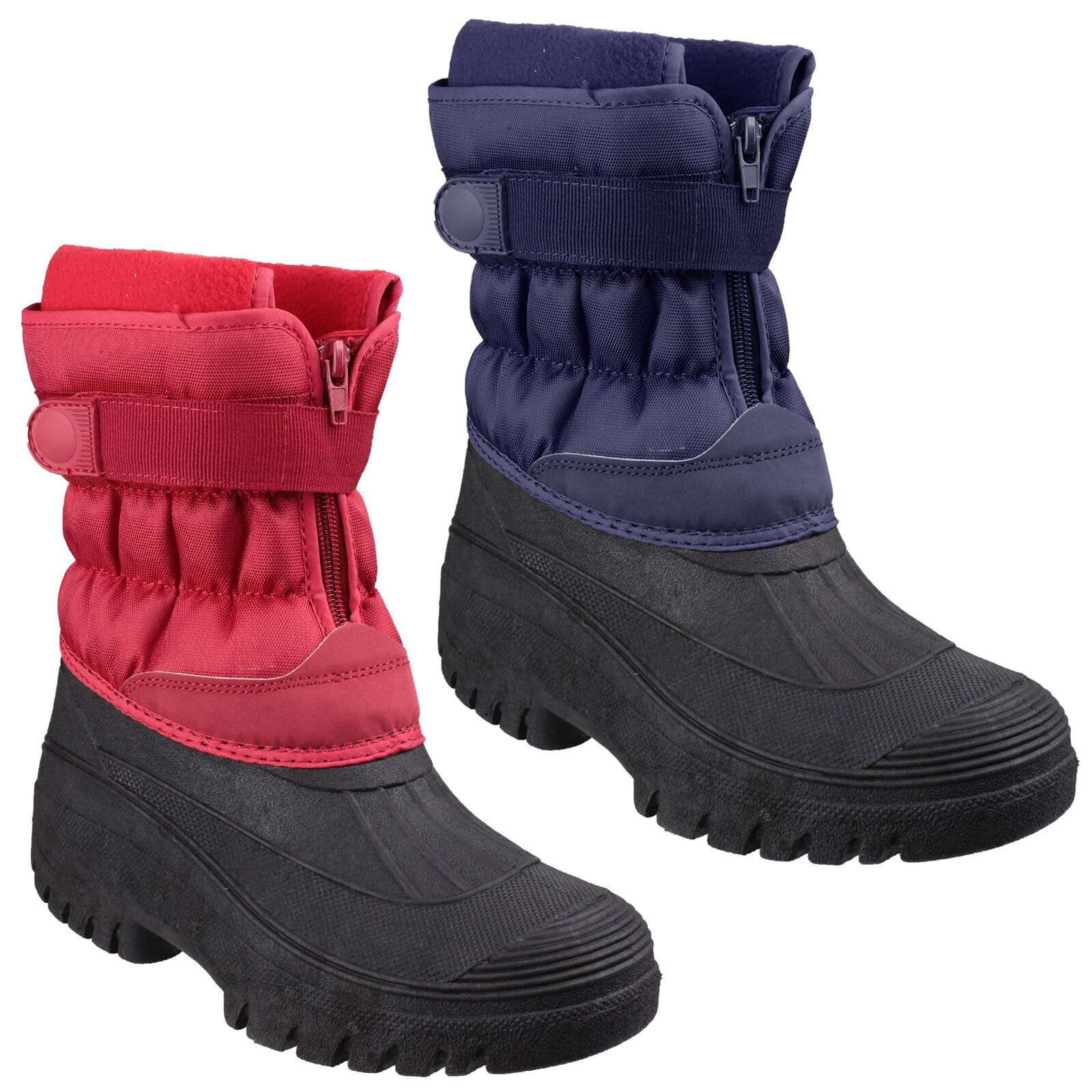 3ba8d6d2cde654 Cotswold Chase Touch Fastening and Zip up Mens Wellington Winter Boots  UK7-12