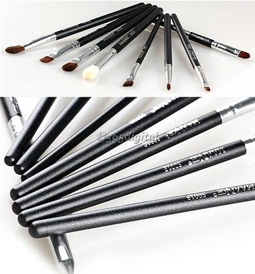 8PCS Eye Brushes Set Blend Angled Eyeliner Smoked Eyeshadow Makeup Brush 35DI
