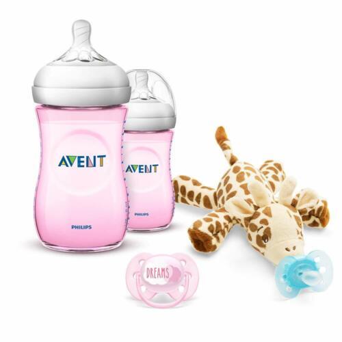 Philips Avent Natural Bebé Alimentación Botella Paquete de 2 260ml Rosa SCF034//27