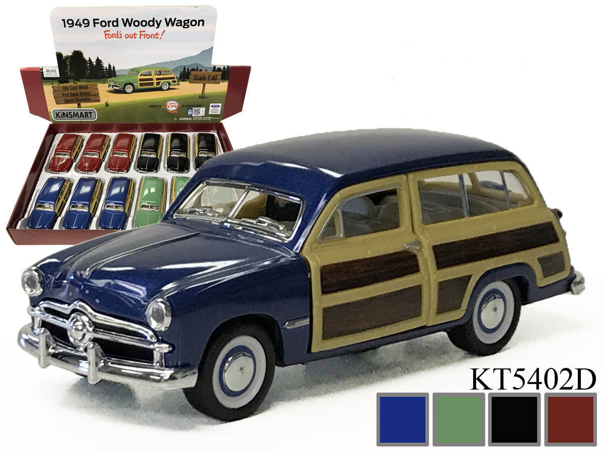 Nouveau kinsmart Diecast Voiture 5  1949 FORD WOODY WAGON
