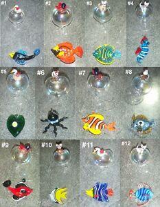 FISCH-GLAS-Schwimmer-Glasfisch-Aquarium-Krake-Seepferd-Katze-Ente-Baer-Handarbeit