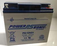 Power Sonic 12v 21ah (17ah 18ah 19ah 20ah 22ah) Agm/gel Vrla Deep Cycle Battery