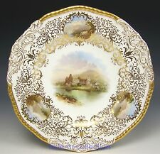 FABULOUS COALPORT HAND PAINTED SCENIC CABINET PLATE SIGNED J. H. RLAND