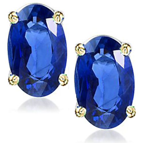 @@ Wholesale Genuine Sapphire Oval Earrings With Certificate