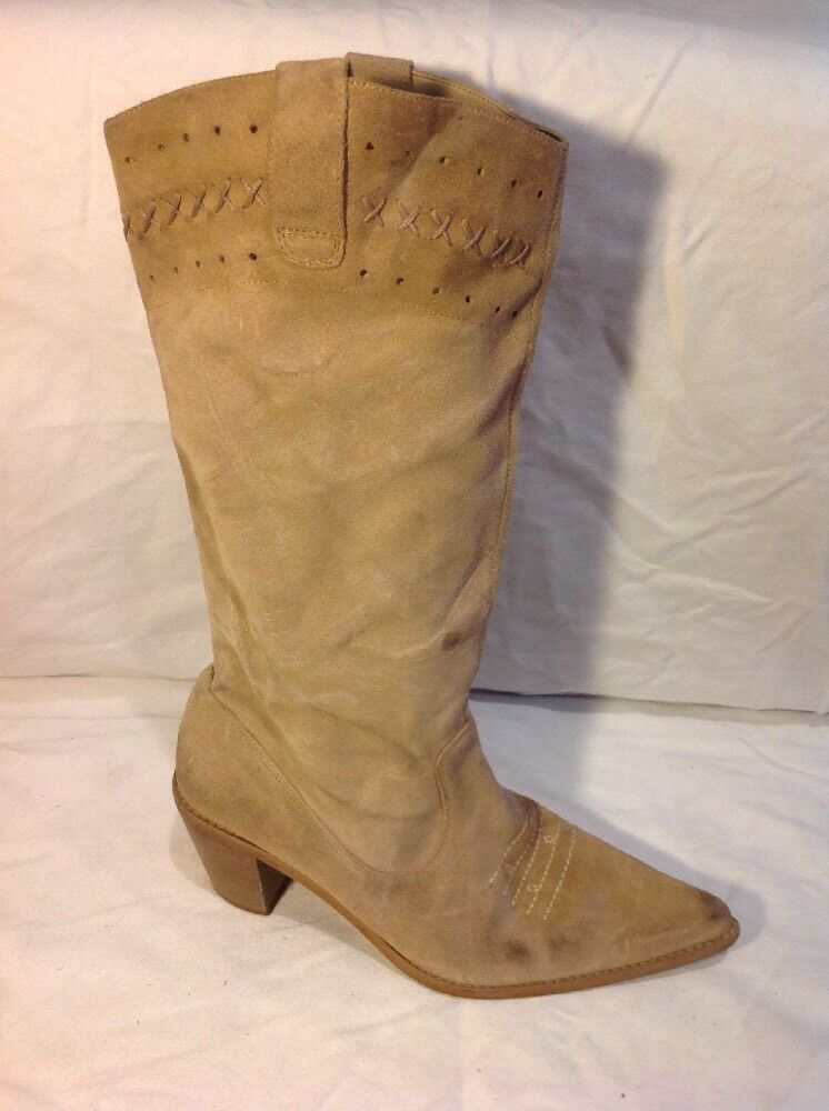 Dgoldthy Perkins Brown Mid Calf Suede Boots Size 4