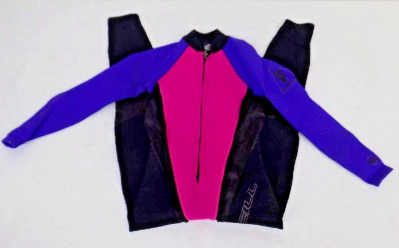 37a01a80374 O Neill Pink   Purple Paneled 2mm Full Body Wetsuit Women s 8 Lycra Side  Panels