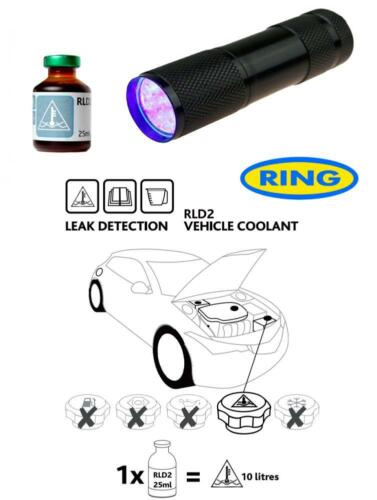 UV Dye /& Torch Kit Leak Detection Dye Coolant Cooling Antifreeze System RLD2