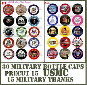 "30 Precut 1/"" Captain America Symbol Bottle cap Images Set 1"