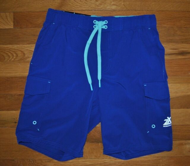 f73f7c4367 NWT Mens ZeroXposur Royal Blue Stretch Swim Shorts Trunks Swimsuit UV Sz 2XL