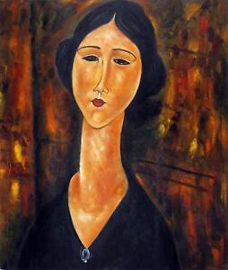 portrait femme tableau peinture huile sur