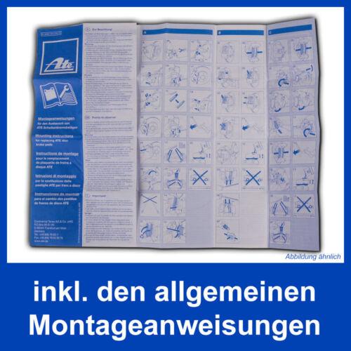 ATE BREMSBELÄGE VORNE AUDI A4 B8 8T3 8F7 8TA PR-Nr=1LT 1LY A5