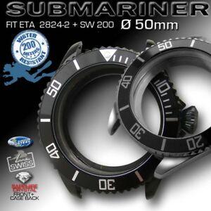 SUBMARINER-CASE-50-MM-200M-ATM-ETA-2824-2-OR-SW-200-ST-STEEL-BLACK-PVD