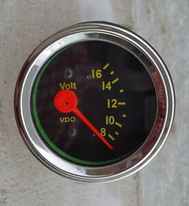 New Volt Gauge Voltmeter VDO type 2 1 16 quot 52mm 12V