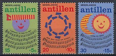 Antillen 1974 ** Mi.289/91 Kinderlieder Children's Songs st0704 Gut Niederl Hohe QualitäT Und Preiswert