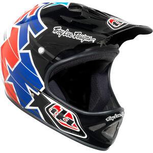 Troy-Lee-Designs-TLD-D2-Cycling-MTB-Superstar-Red-White-Blue-Gloss-Helmet-M-L