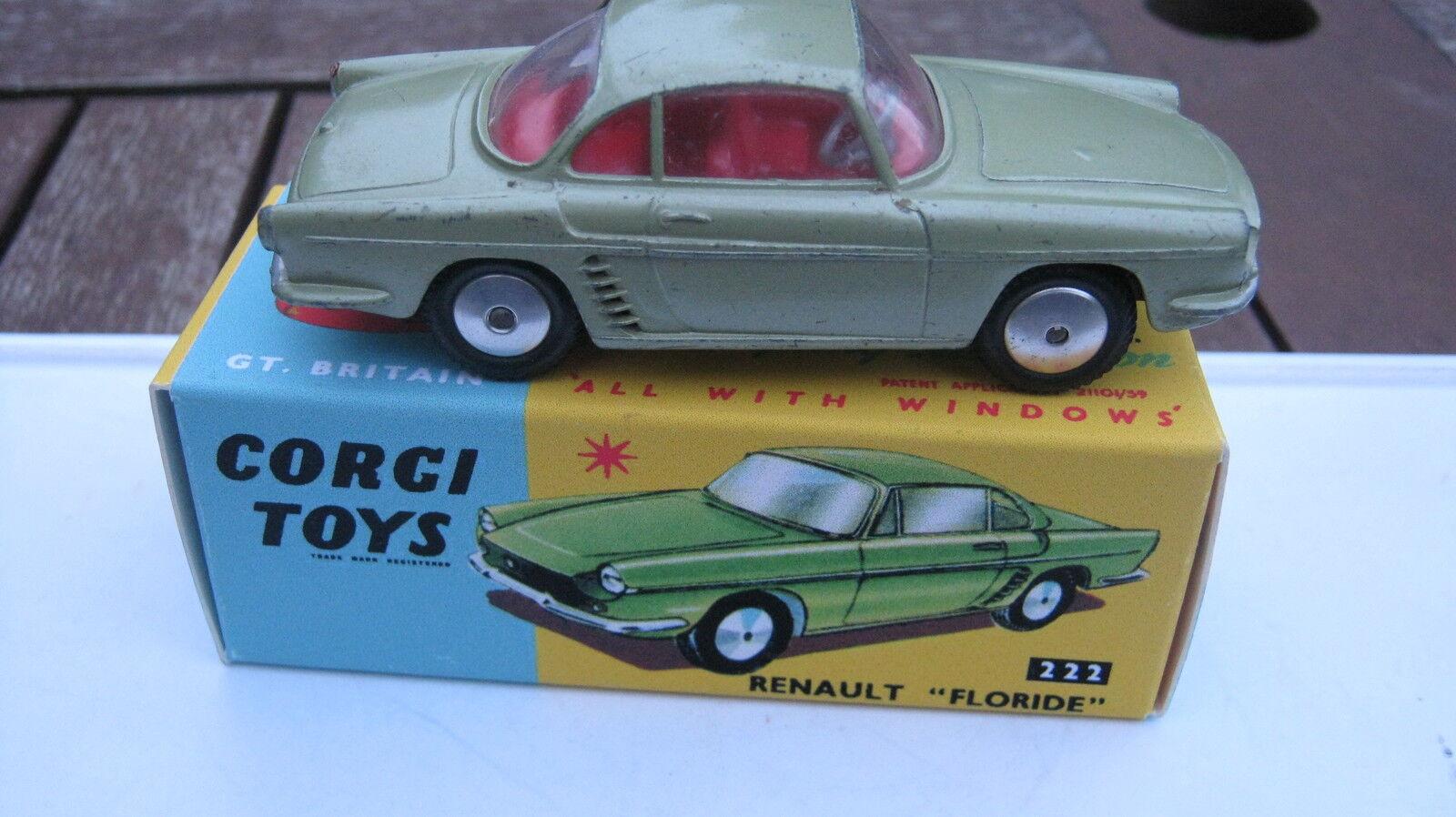 CORGI 222 Renault Renault Renault Floride 1959-65 original peu marqué voiture dans le meilleur repro box. | De Haute Qualité Et De Bas Frais Généraux  bb49f3