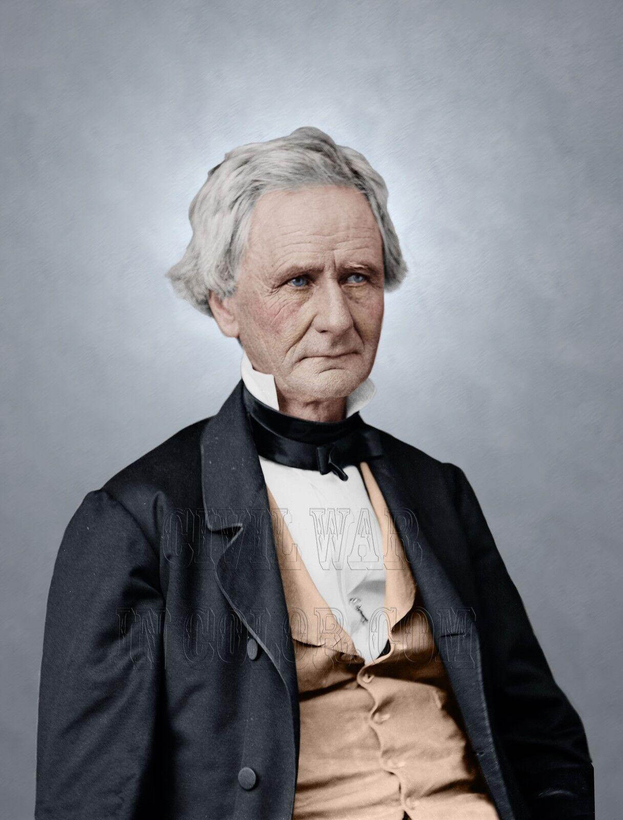 Simon Cameron Secretary War Lincoln Cabinet Farbe Tinted photo Civil War 05309