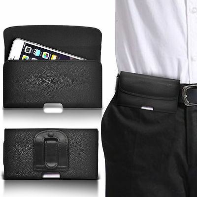 Horizontal PU Leather Pouch Belt Clip Case For Nokia E72