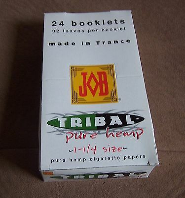 JOB Tribal Pure HEMP Rolling Papers 1 box 24 booklets 1 1//4