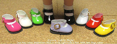 """Others Doll Shoes 13/"""" Patsy 54mm BLACK Lovely Patent Mary Janes"""