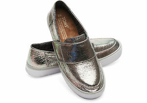 d201ed8fbf0 NWOB WOMEN TOMS Altair Metallic Leather Slip-On Sneaker ALL SIZES