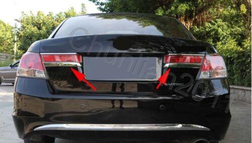 Chrome Rear Lamp Cover Tail Light Trim Lower Eyelid for 08-12 Honda Accord Sedan