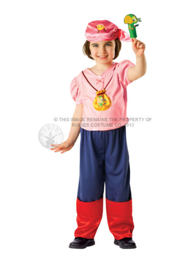 Child Izzy Jake And The Never Land Pirates Fancy Dress Pink Pirate Costume BN