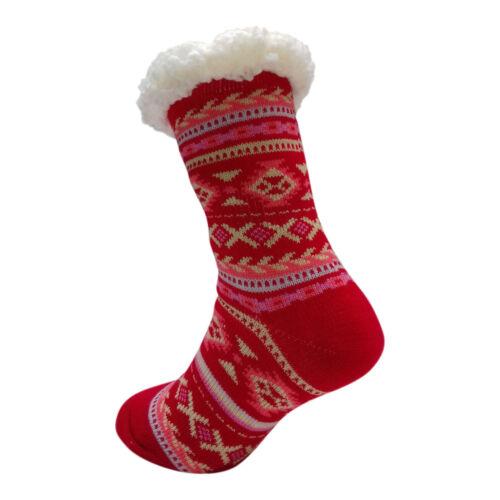 Donna Caldo termico isolato calze spesse inverno 4.7 Tog UK 4-7 399E Red Heel