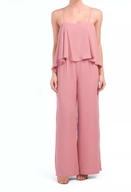 Paper Crown by Lauren Conrad HAZEL Popover Jumpsuit pink Size 4 BRAND NEW  310