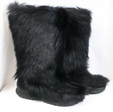 WINNA Diavolezza Faux Fur Apres Ski Furry Warm Knee High Yeti Wool Boots Women 6